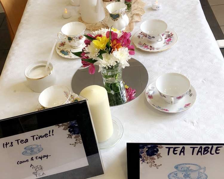 A table laid out for afternoon tea