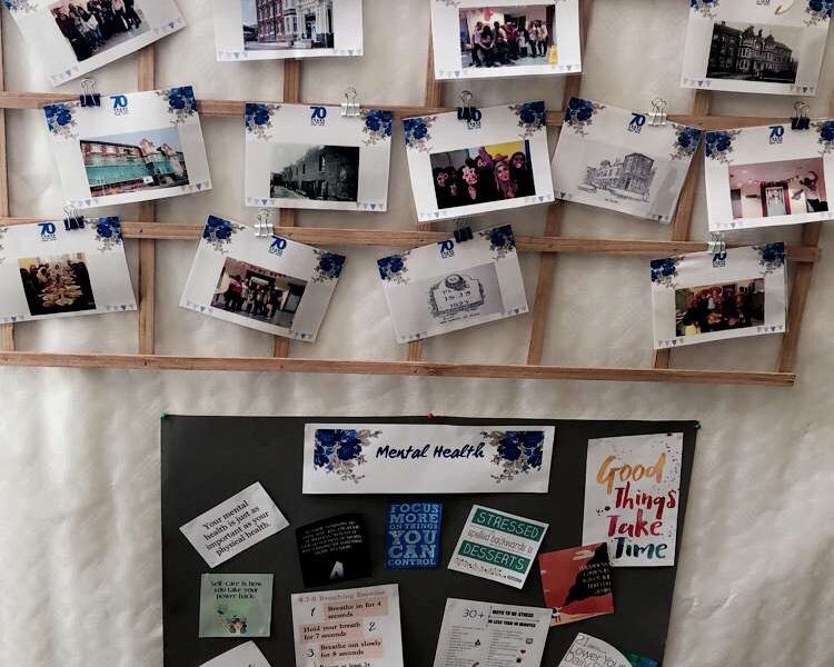 Memories pinned to a board
