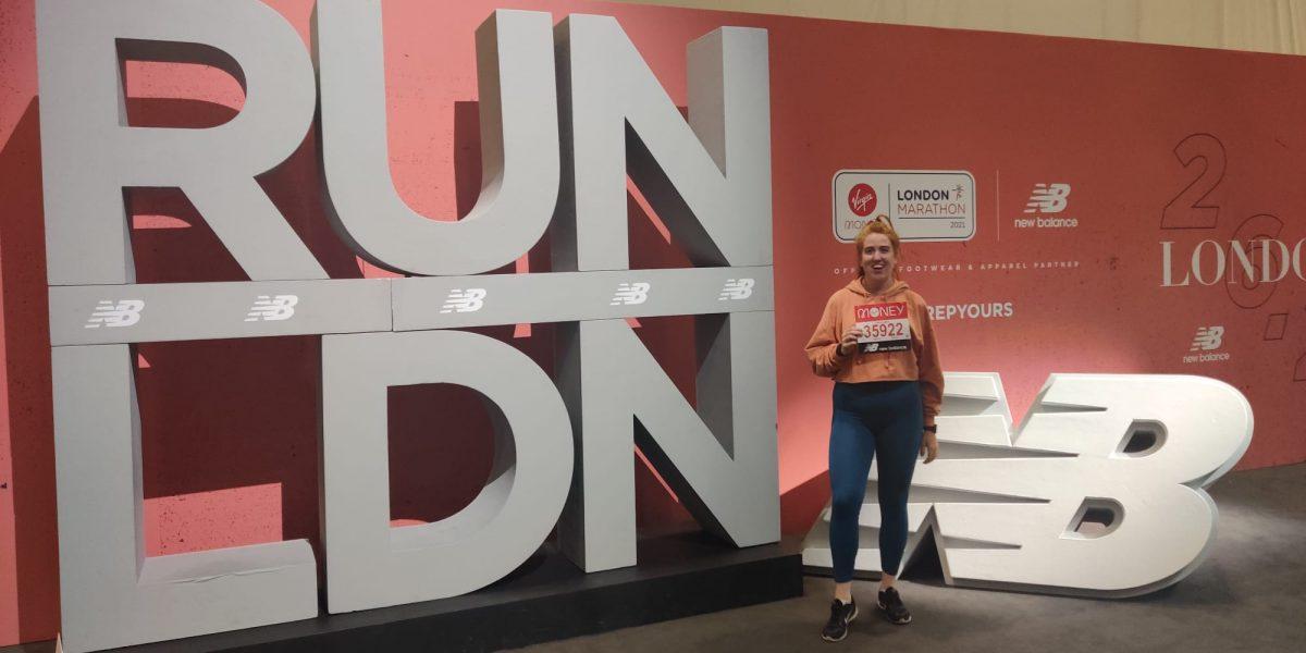 Supporter Gillian preparing for the London Marathon